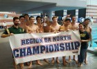 The Langley High School Boys are the Virginia 6A North Region Champions. Courtesy: Matt Rees/SwimSwam.com