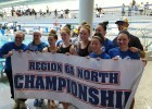 The Robinson High School girls are the Virginia 6A North Region Champions. Courtesy: Matt Rees/SwimSwam.com