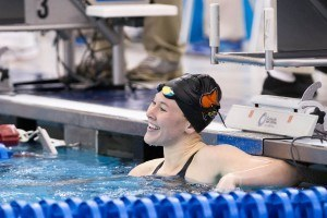 Louisville Junior Andee Cottrell won the 100 breast in a new conference and meet record 58.26 at the 2016 ACC Women's Swimming & Diving Championships held at the Greensboro Aquatic Center in Greensboro, NC from February 17 to February 20. (Photo Courtesy: Tim Binning/TheSwimPictures.com)