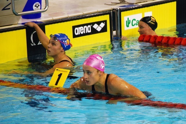 Mireia Belmonte after she won the 400 m freestyle