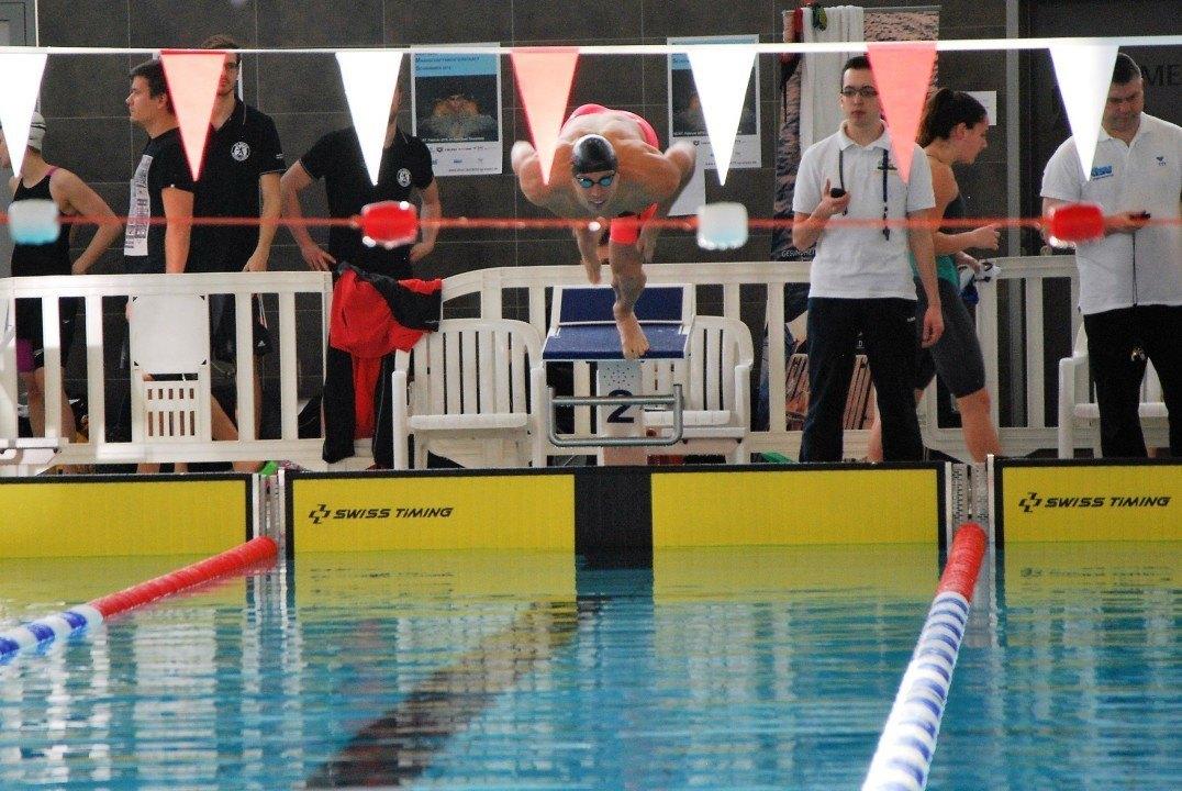 Julia Mrozinski und Hendrik Feldwehr siegen beim Swim Cup Eindhoven