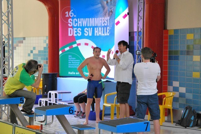 Marco Koch beim Siegerinterview.