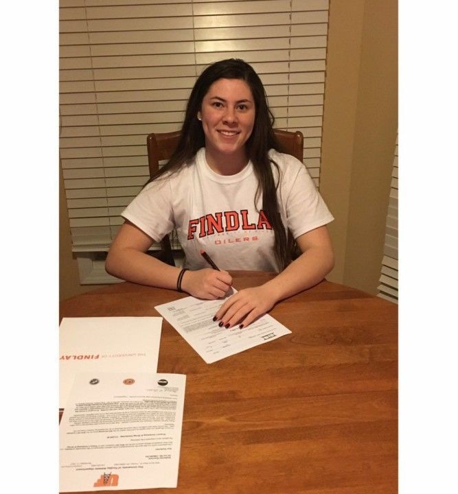 Three-Sport Athlete Katy Kouvaris Commits to Swim at Findlay