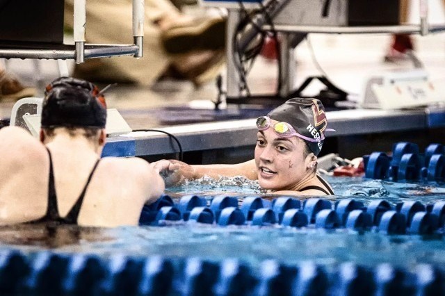 Virginia Tech Junior Jessica Hespeler wins the 500 free B-final in 4:41.26 at the2016 ACC Women's Swimming & Diving Championships held at the Greensboro Aquatic Center in Greensboro, NC from February 17 to February 20. (Photo Courtesy: Tim Binning/TheSwimPictures.com)