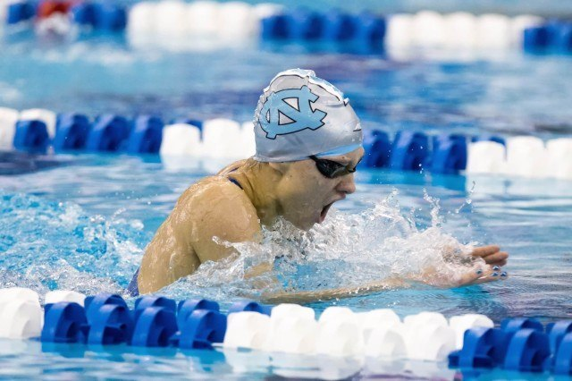 UNC Junior Katie Munch captures the C-final of the 200 individual medley in 2:00.11 at the 2016 ACC Women's Swimming & Diving Championships held at the Greensboro Aquatic Center in Greensboro, NC from February 17 to February 20. (Photo Courtesy: Tim Binning/TheSwimPictures.com)
