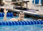 Louisville Senior Kelsi Worrell sets a new ACC Meet record in winning the 50 free A-final in 21.85 at the 2016 ACC Women's Swimming & Diving Championships held at the Greensboro Aquatic Center in Greensboro, NC from February 17 to February 20. (Photo Courtesy: Tim Binning/TheSwimPictures.com)