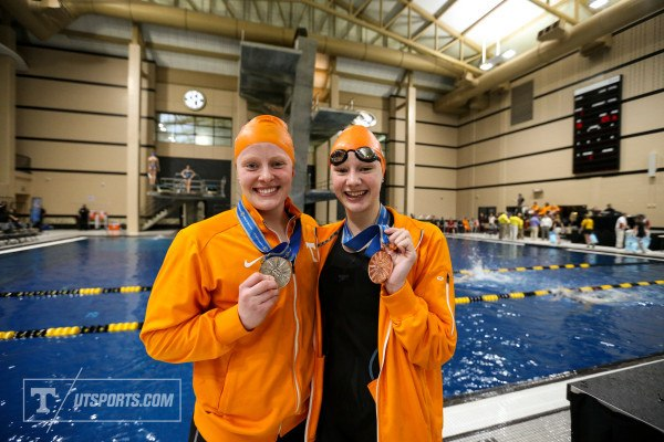Madeline Banic & Faith Johnson, courtesy of Craig Bisacre/Tennessee Athletics