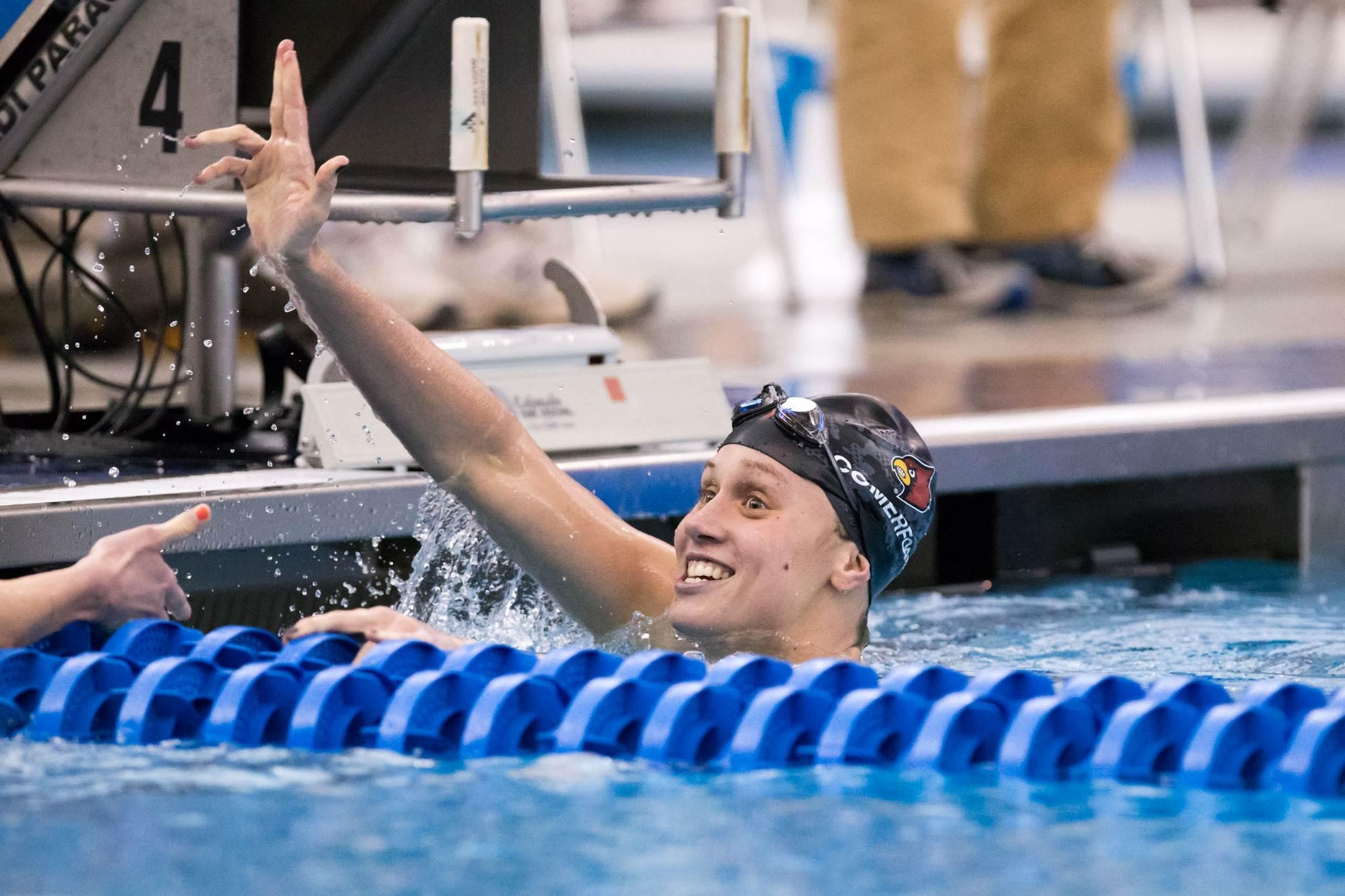 Louisville cardinals looks strong on day one of home invite - University of louisville swimming pool ...