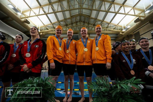 Tennessee Podium, courtesy of Craig Bisacre/Tennessee Athletics