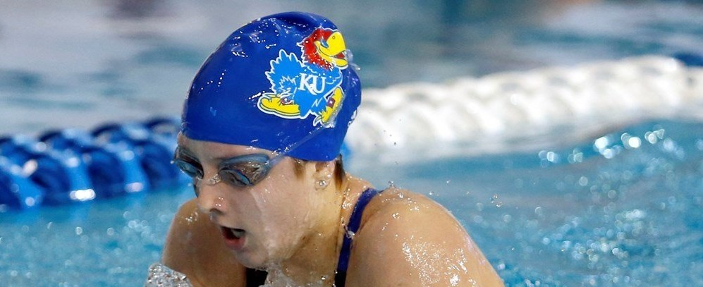 Brouillette Sets Iowa State U Dive Record, KU Jayhawks Defeat Cyclones