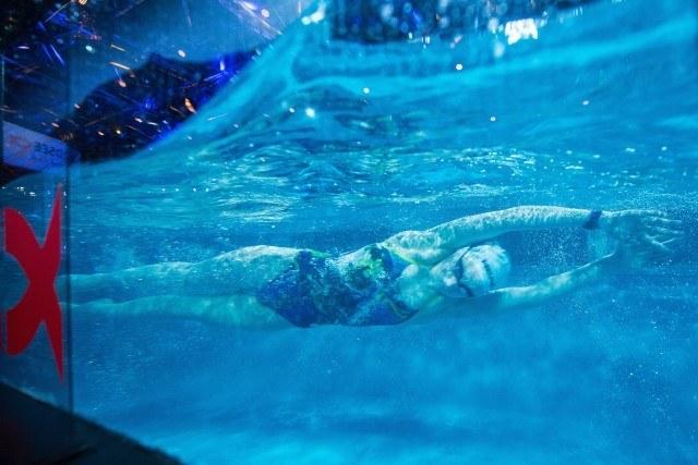 06. Februar 2016, Wiesbaden, Deutschland,Ball des Sports. In this photo: German swimmer Lea Boy