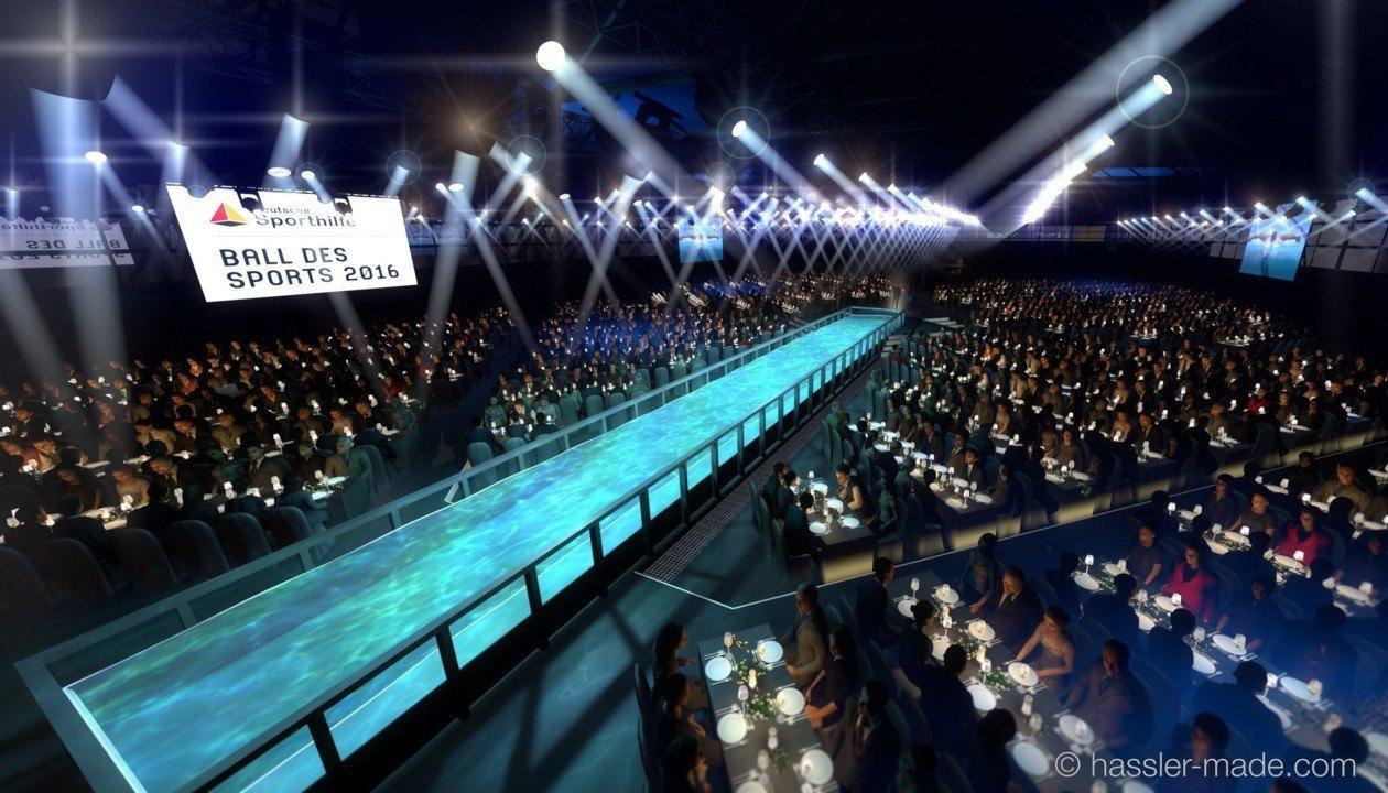 Schwimm-Legenden Gross, van Almsick schwimmen Staffel, Ball des Sports