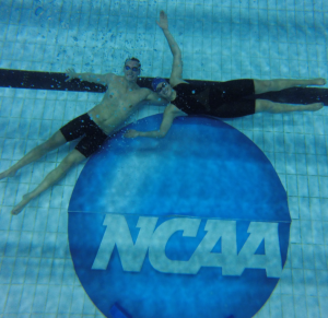 2016 NCAA champions, Nick and Caroline. Photo courtesy of Carol Arakelian