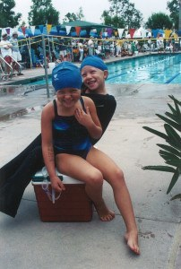 Ella and Emily on a cooler, summer league 2003. Photo courtesy of Elizabeth Eastin