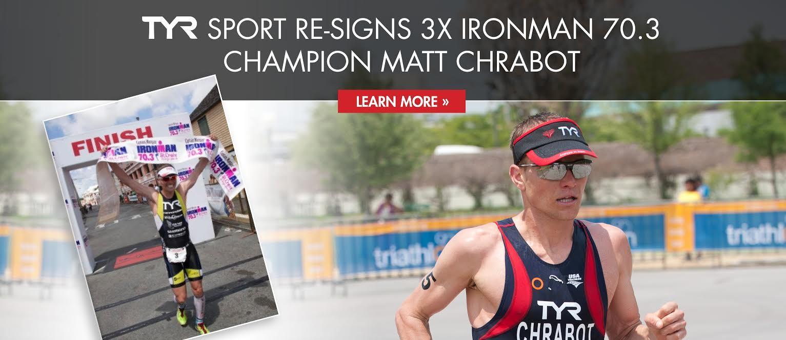 TYR Sport Resigns 3x IRONMAN 70.3 Champion Matt Chrabot