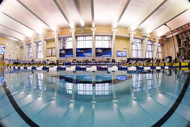 Another fantastic at water-level angle of the McAuley Aquatic Center. Photo Credits: Tim Binning/TheSwimPictures.com