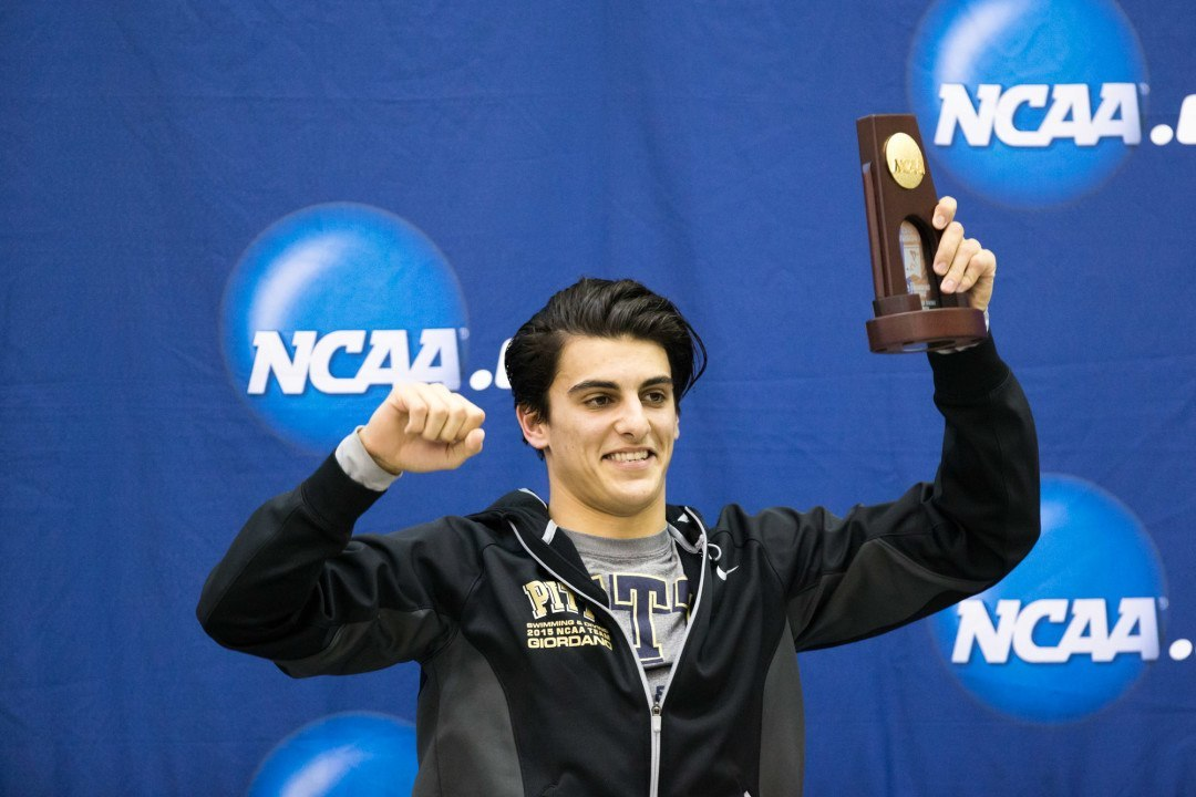 Giordano Win in 3m Diving Marks Pittsburgh's First NCAA Title