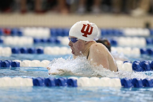 Just like all her other swims, Lilly King of Indiana soaring down the lane in the 200 breast prelims. Photo Credits: Tim Binning/TheSwimPictures.com