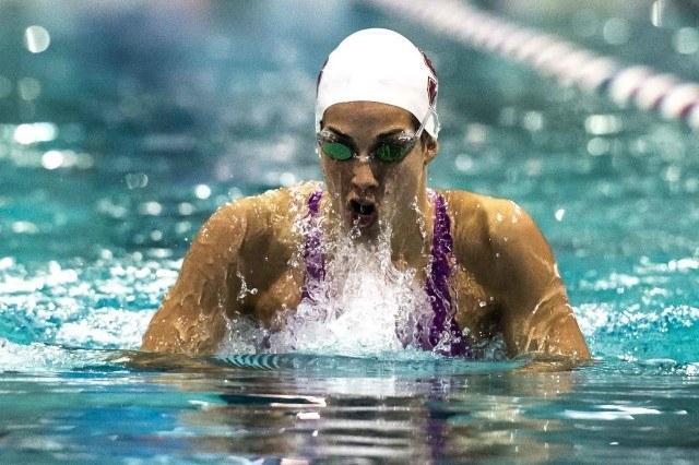 Maya DiRado in the 200 IM at the Orlando Pro Swim Series (photo: Mike Lewis)