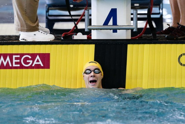 Just a 44.60 from Ryan Murphy in this morning's 100 back, but he's happy. Photo Credits: Tim Binning/TheSwimPictures.com