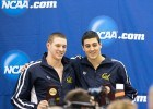 Cal teammates Ryan Murphy (left) and Jacob Pebley (right) finished 1-2 in the 200 back. (Photo Courtesy: Tim Binning/TheSwimPictures.com)