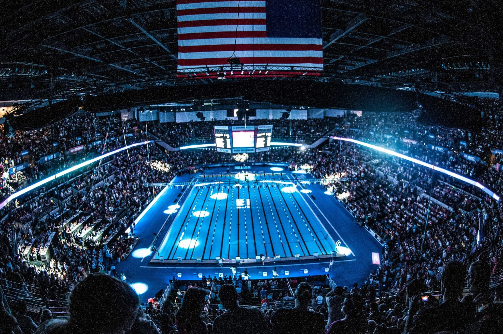 Olympic Swimming Pool 2016 watch: olympic trials pool begins filling with a fire truck