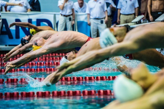 Ryan Murphy in the 100 backstroke Orlando Pro Swim Series stop (photo: Mike Lewis)