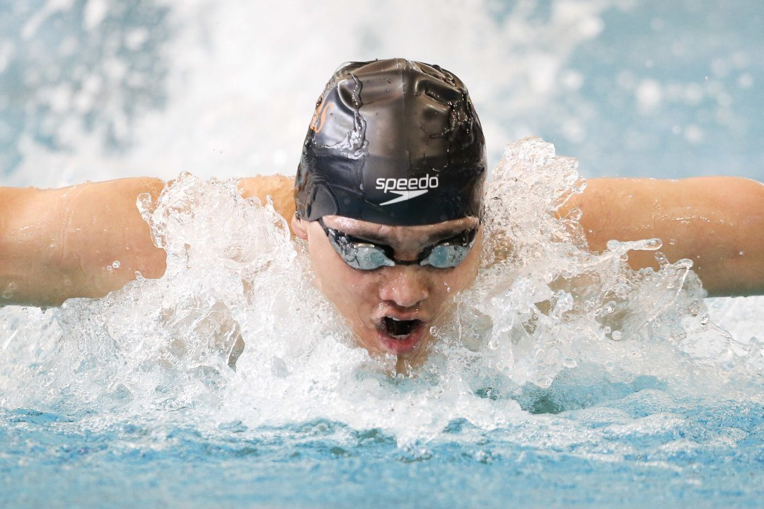 Schooling Splits 43.3 Fly En Route To Texas NCAA Relay Record