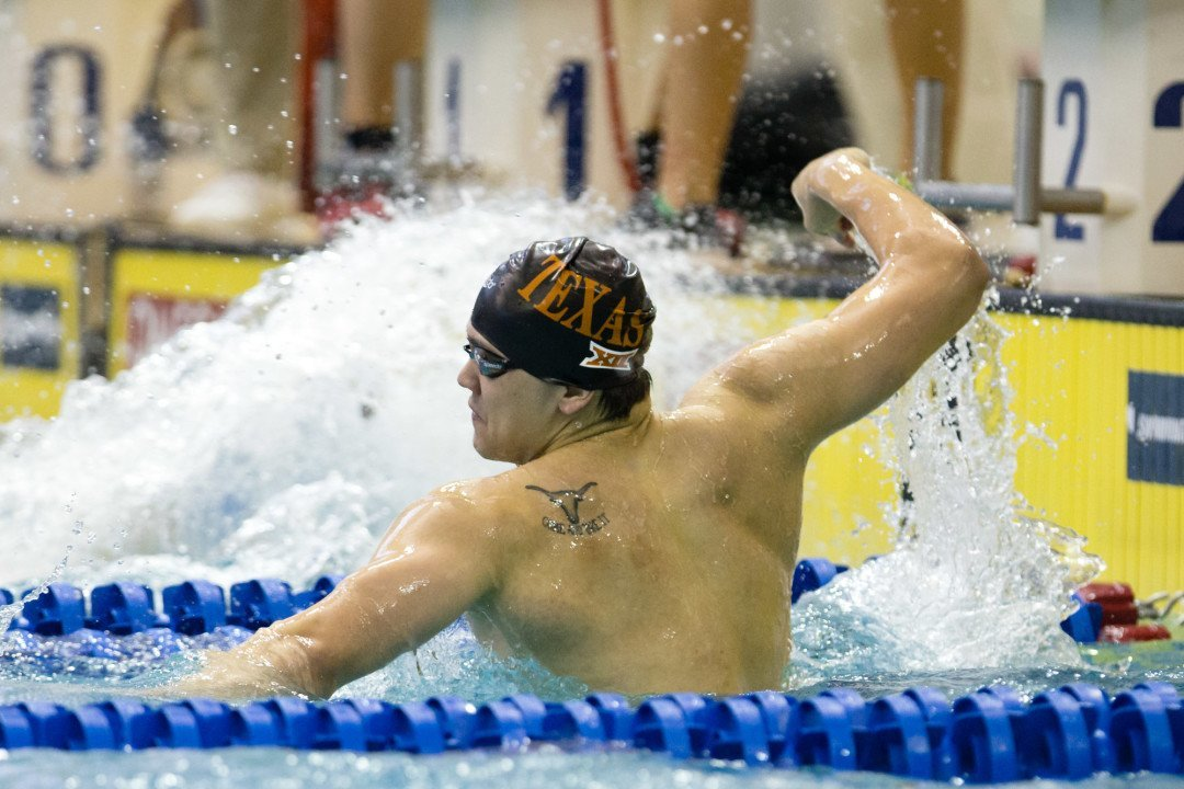 Schooling Posts 18.76 50 FR to Erase Feigen's Big 12 Conference Record