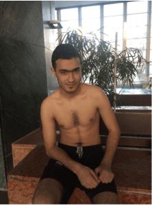 Ahmad Alham, Syrian refugee and swimmer, now living in Bonn, Germany (Courtesy of Steven V. Selthoffer)