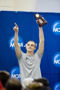 Penn's Chris Swanson kicked the events off on Saturday evening with his school's first-ever NCAA title in any men's swimming or diving event. (Photo Courtesy: Tim Binning/TheSwimPictures.com
