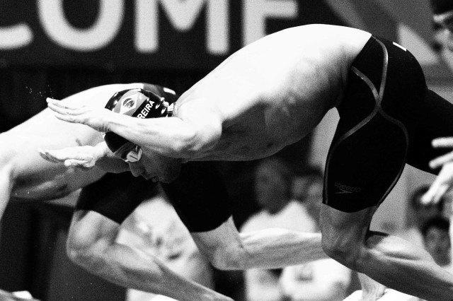 Thiago Pereira in the prelims of the 200 IM at the Pro Swim Series in Orlando (photo: Mike Lewis)