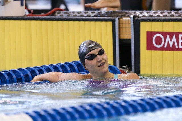 100 free 3rd place seed and USC freshman, Kasia Wilk. Photo Credits: Tim Binning/TheSwimPictures.com