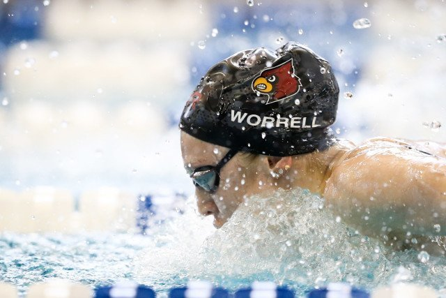 Kelsi Worrell smashing the Championship Record in the 200 fly. Photo Credits: Tim Binning/TheSwimPictures.com