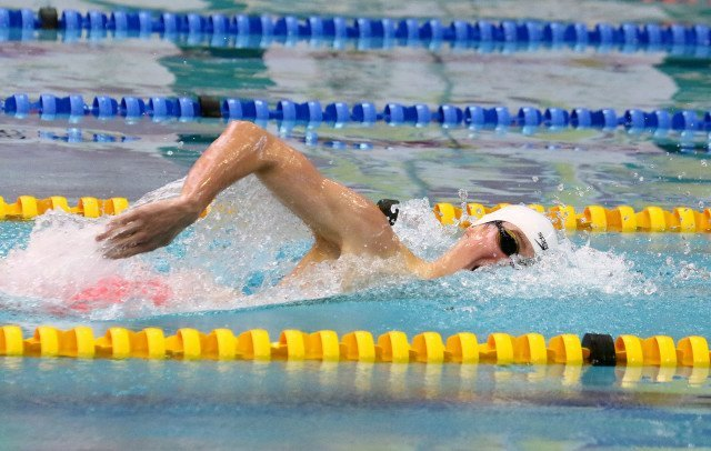 DURBAN, SOUTH AFRICA - APRIL 10: Mathew Meyer during the heats session 400m freestyle on day 1 of the SA National Aquatic Championships and Olympic Trials on April 10 , 2016 at the Kings Park Aquatic Center pool in Durban, South Africa. Photo Credit / Anesh Debiky/Swim SA
