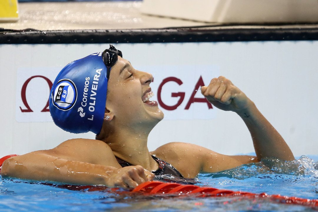 Larissa Oliveira Breaks Brazilian, South American Records In 100 Free