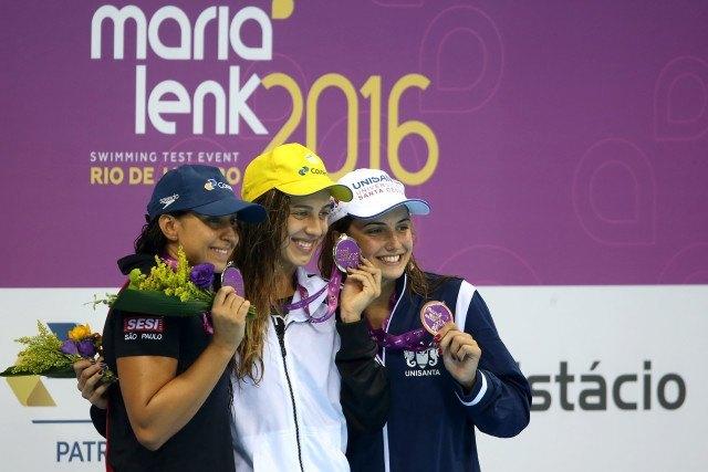 Larissa Oliveira. Trofeu Maria Lenk de Natacao, realizado no Centro Aquatico Olimpico. 17 de abril de 2016, Rio de Janeiro, RJ, Brasil. Foto: Satiro Sodré/ SSPress