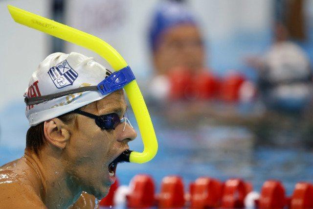 Cesar Cielo. Trofeu Maria Lenk de Natacao, realizado no Centro Aquatico Olimpico. 14 de abril de 2016, Rio de Janeiro, RJ, Brasil. Foto: Satiro Sodré/ SSPress