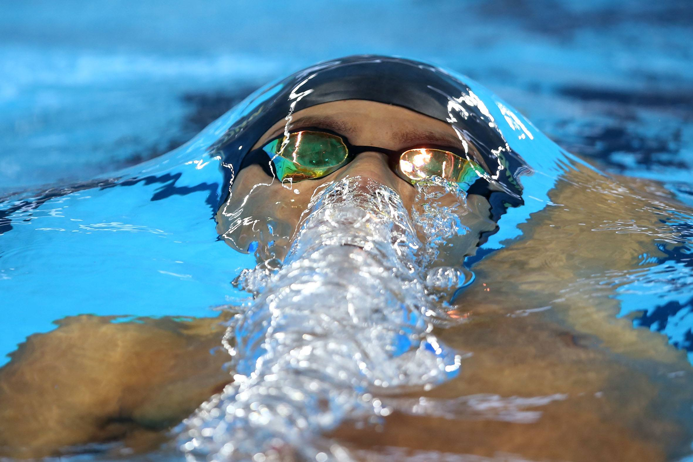Brandonn Almeida. Trofeu Maria Lenk de Natacao, realizado no Centro Aquatico Olimpico. 15 de abril de 2016, Rio de Janeiro, RJ, Brasil. Foto: Satiro Sodré/ SSPress