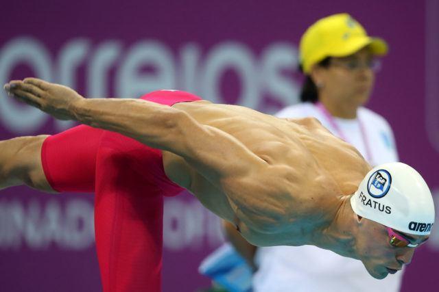 Bruno Fratus. Trofeu Maria Lenk de Natacao, realizado no Centro Aquatico Olimpico. 20 de abril de 2016, Rio de Janeiro, RJ, Brasil. Foto: Satiro Sodré/ SSPress