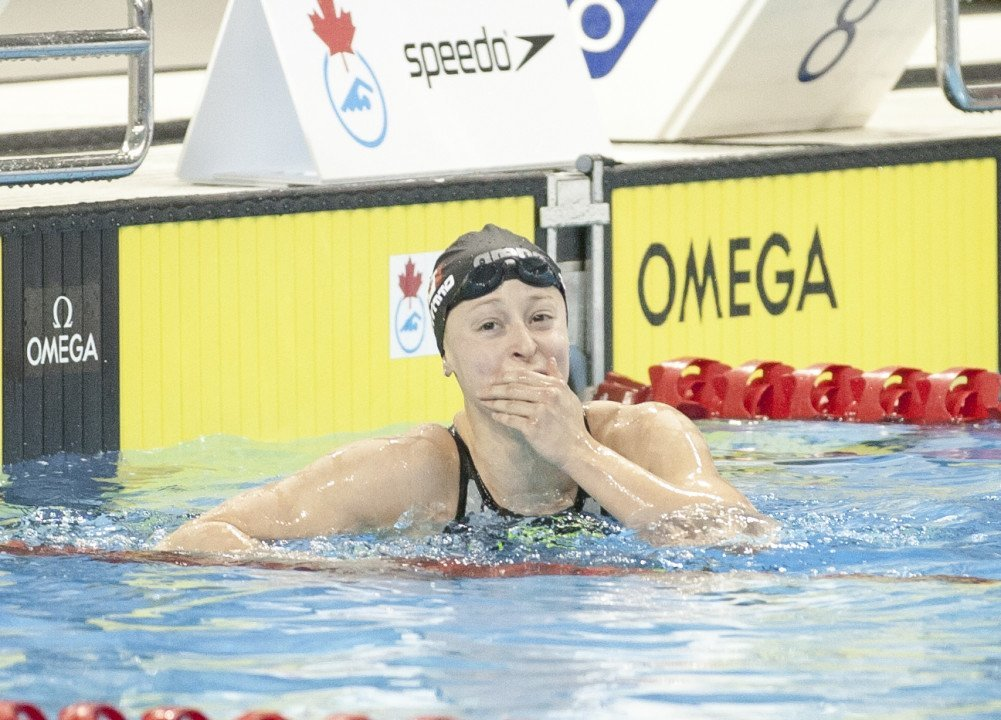 Katerine Savard Breaks Canadian 50 Fly Record at Quebec Cup