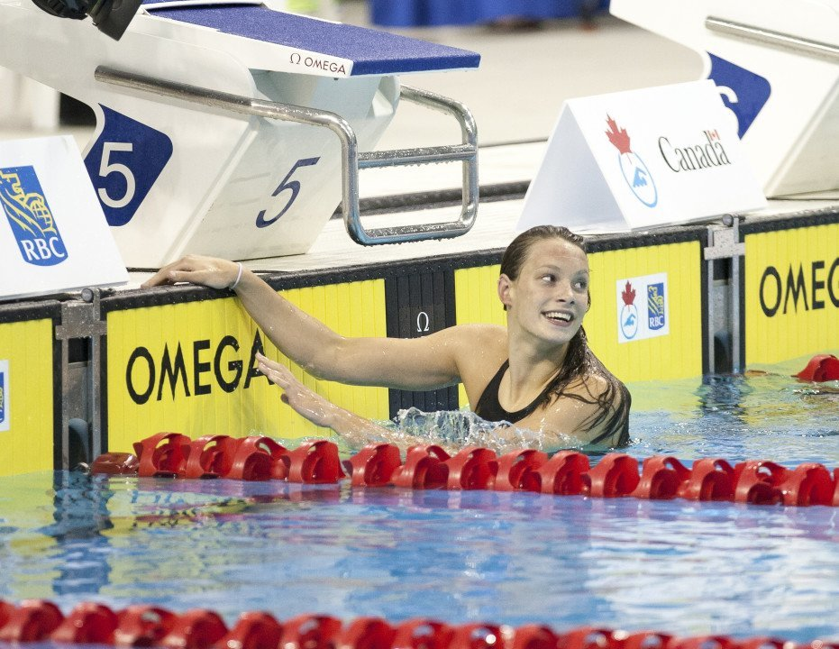 Penny Oleksiak Breaks Own Junior World Record In Women's 50 Fly