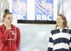 Chantal Vanlandegham (left) Penny Oleksiak (right) 2016 Swimming Canada Olympic Trials.