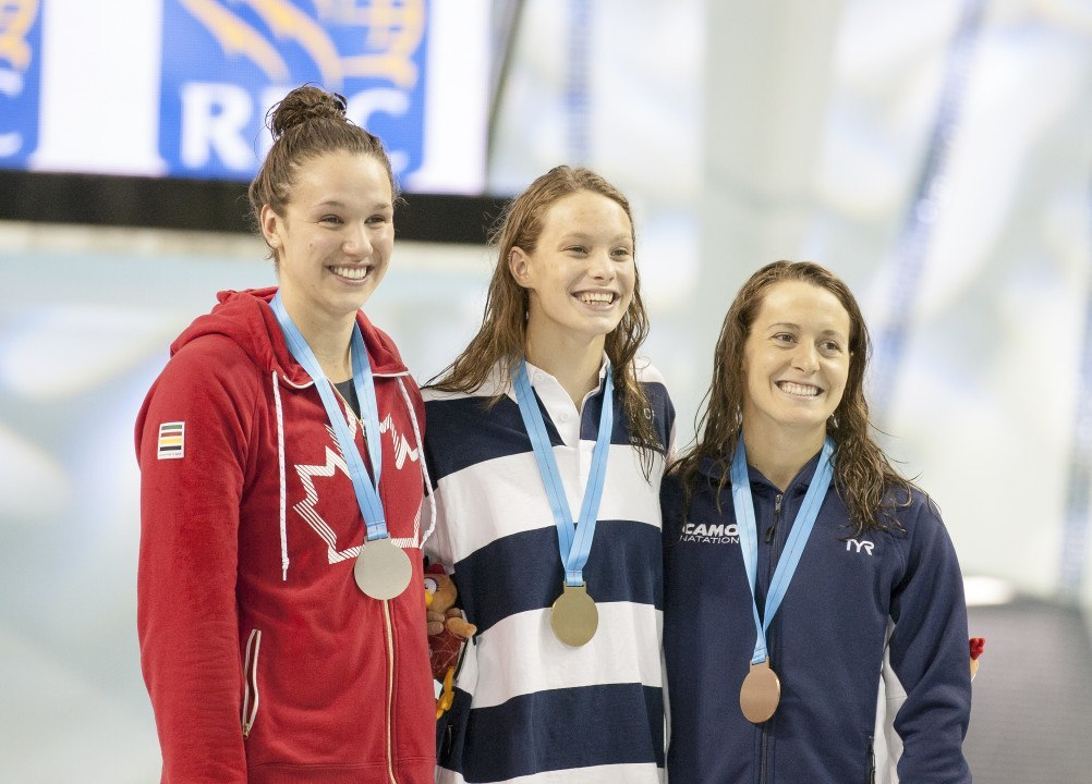 15 Year-Old Penny Oleksiak Breaks 50m Fly Junior World Record