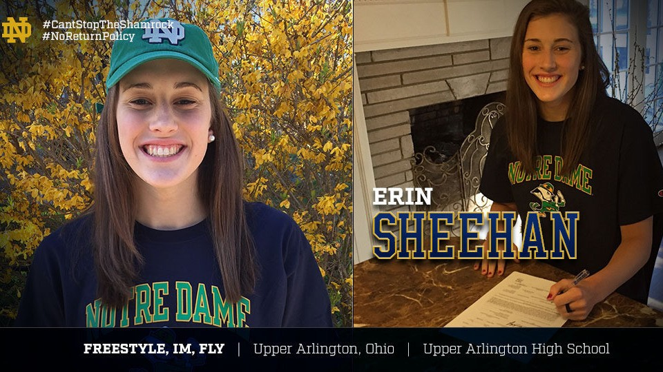 Ohio HS State Champion Erin Sheehan A Late Signee For Notre Dame
