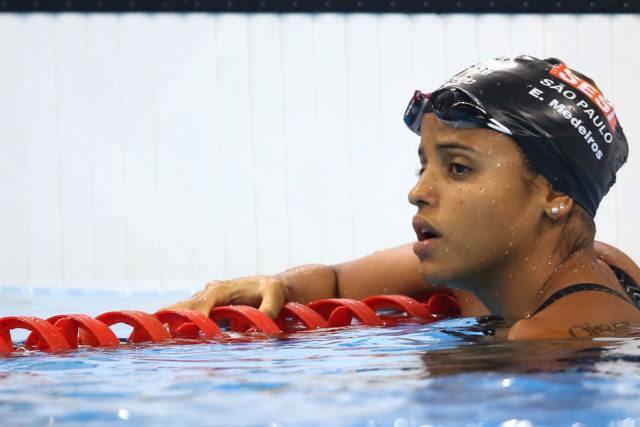 Etiene Medeiros. Trofeu Maria Lenk de Natacao, realizado no Centro Aquatico Olimpico. 20 de abril de 2016, Rio de Janeiro, RJ, Brasil. Foto: Satiro Sodré/ SSPress