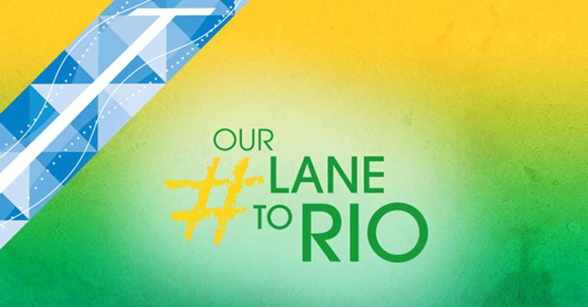 German Swimming Federation and athletes use hashtag #LaneToRio