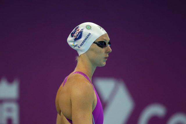 Graciele Herrmann. Trofeu Maria Lenk de Natacao, realizado no Centro Aquatico Olimpico. 20 de abril de 2016, Rio de Janeiro, RJ, Brasil. Foto: Satiro Sodré/ SSPress