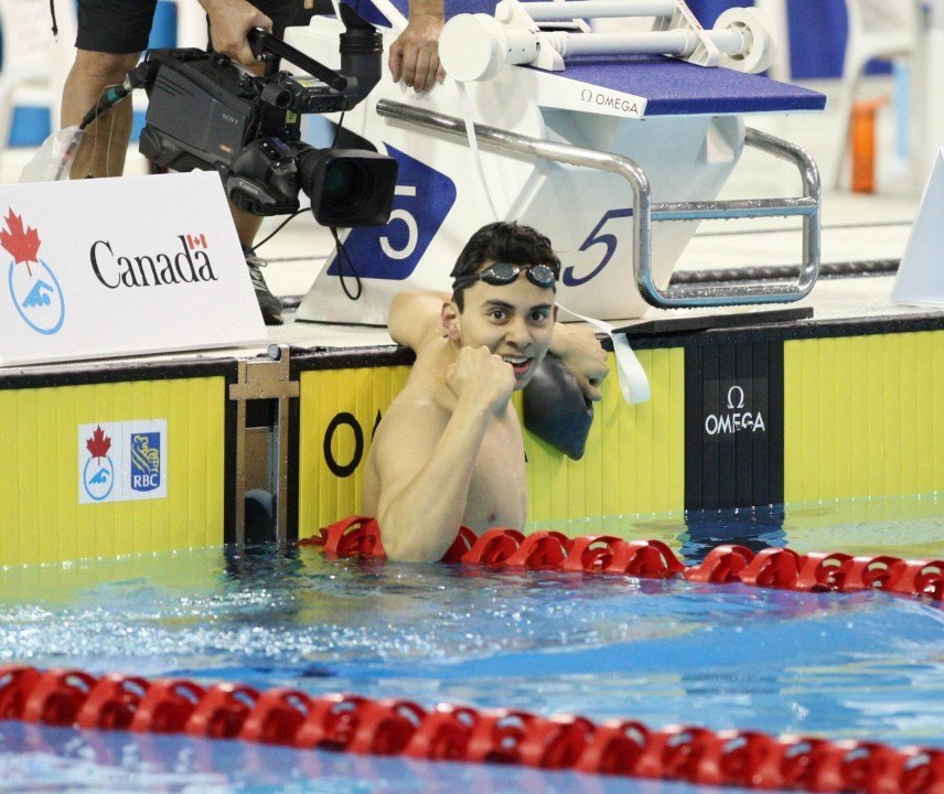 Javier Acevedo Smashes 100m Backstroke Junior World Record