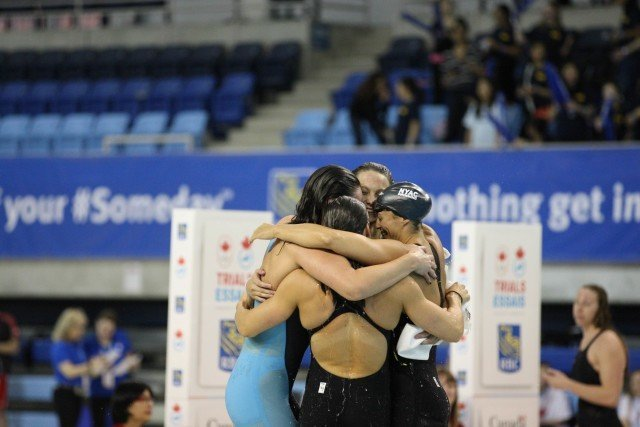 HPC - Ontario makes 4x100 free relay team 2016 Canadian Olympic Trials
